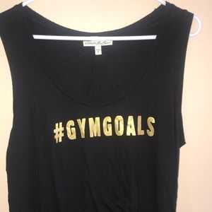 Black and Gold Workout Tank